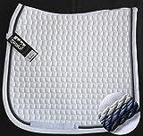 ESKADRON Cotton Schabracke weiß, 3fach Kordel navy,blue,silberfarben , Form:Vielseitigkeit