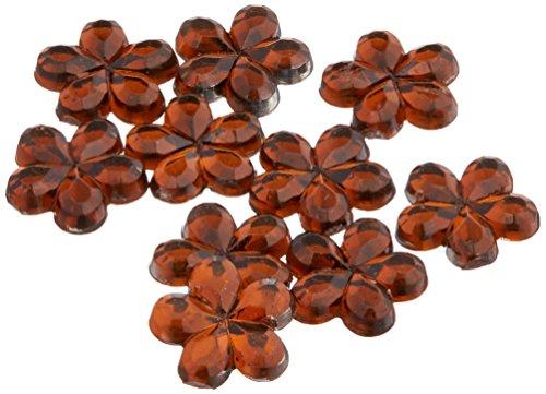 l-artigianato-di-1000-acrilico-fiore-strass-4-mm-con-retro-piatto-alluminio-da-6-mm-birra-colore-mar
