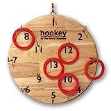 Elite Hookey ringwurf Spiele für draußen - sicherer als Darts, hängen Sie es einfach an einer Wand und fangen an zu spielen. Es ist wunderschön fertig und ist ein Spaß Familienspiel für alle Altersgruppen. Einfache Einrichtung für Man Cave, Home oder Office