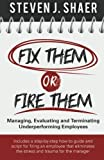 Fix Them or Fire Them: Managing, Evaluating and Terminating Underperforming Employees by Steven J. Shaer (2013-11-05)