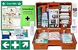 Erste-Hilfe-Koffer Gastro Pro M5 für Betriebe Din/EN 13157 inkl. Augenspülung + Brandgel + detektierbare Pflaster + Hydrogelverbände
