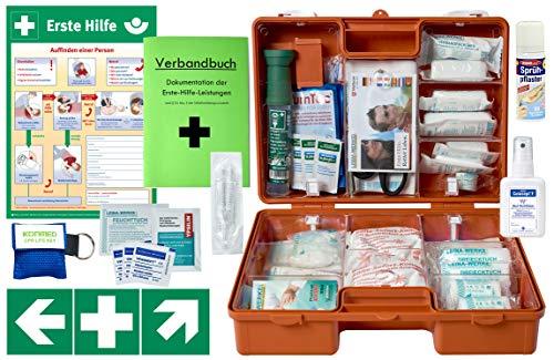 Erste-Hilfe-Koffer Gastro Pro M5 für Betriebe Din/EN 13157 inkl. Augenspülung + Brandgel + detektierbare Pflaster + Hydrogelverbände (Kantine-set)