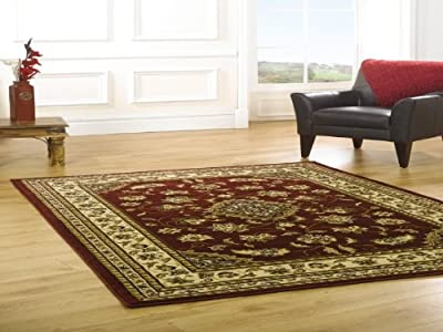 Sincerity Sherbourne Red Beige Green Navy Blue Rugs Traditional Large Thick Cheap Affordable Bedroom Lounge Rugs produced by Abbey-Carpets - quick delivery from UK.