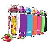 Best Infuser Water Bottles - Willceal Fruit Infuser Water Bottle 32oz Durable, Large Review