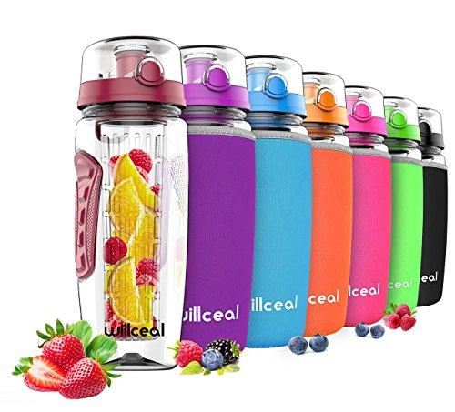 willceal Wasserflasche mit Fruchteinsatz 945 ml -Hochwertig