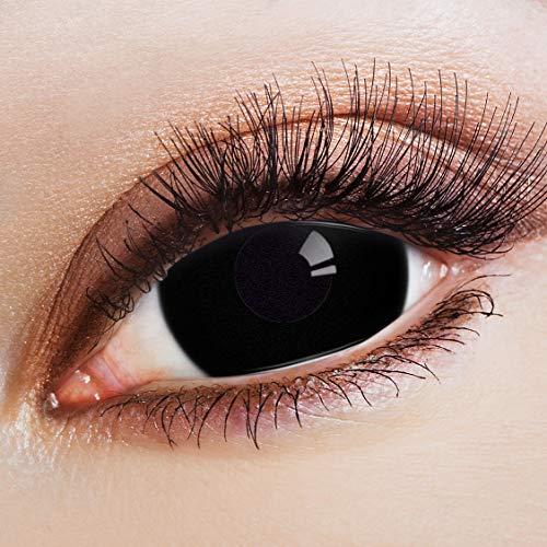 Aricona Kontaktlinsen: Tief Schwarze Sclera Jahreslinsen Mit 17mm - 2er Set
