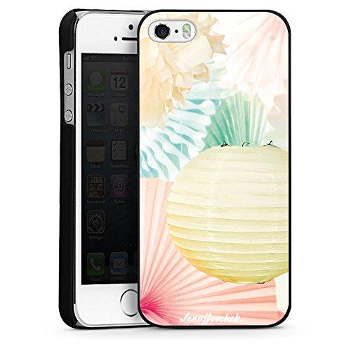 Apple iPhone 5 Housse étui coque protection Lena Hoschek Spring Summer Fashion Papier CasDur noir