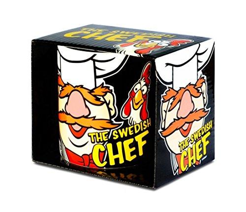 k Tasse - Swedish Chefkoch - toll und stabil verpackt in einer Geschenkbox! (Animal Muppets Maske)
