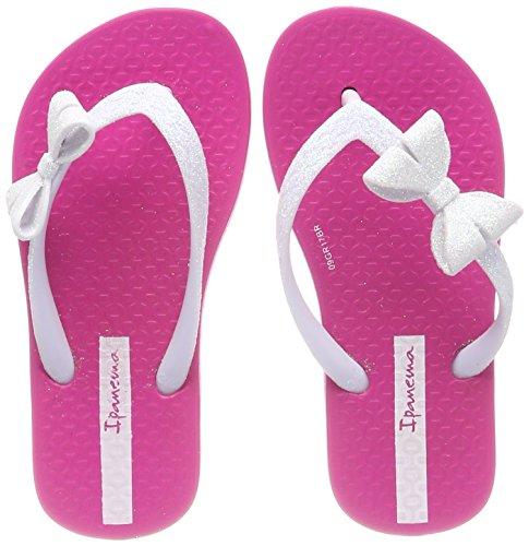 ita IV Kids Zehentrenner, Mehrfarbig (Pink/White), 25/26 EU (Mädchen Ipanema Flip Flops)