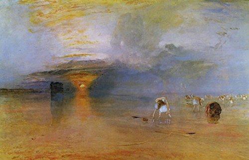 Das Museum Outlet-Calais Sands, wenig Wasser, Poissards sammeln Köder, 1830-A3Poster