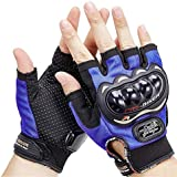 AdroitZ Half Cut Hand Gloves/Bike Glove/Racing Gloves/Driving/Biking/Motorcycle Gloves