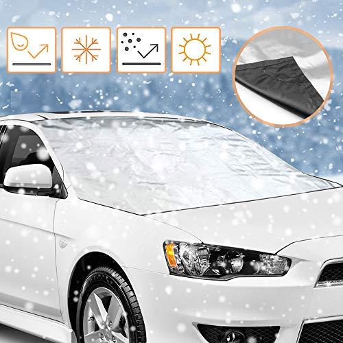 Parabrisas Cubierta de Protector, innislink Protector para Parabrisas Coche magnético Anticongelación Hielo Frost Nieve UV Cubierta de Parabrisas para la MA mayoría de vehículos - 210 x 120 cm