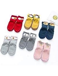 Olele Niños Pequeños Zapatos Mocasines Antideslizantes Zapatillas Piso Algodón Transpirable Niños Bebés Niños Niñas Calcetines exteriores