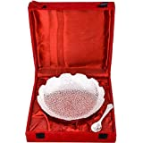 Art Bazar Silver-Plated Bowl With Spoon Set, 50 Ml, 2-Piece, Silver (JPGS086)