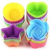 WENTS Cupcake Förmchen - 24 Wiederverwendbare Muffinförmchen von 6 Farben