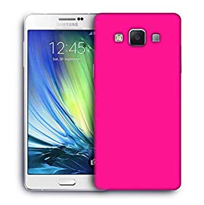 Snoogg Plain Pink Designer Protective Phone Back Case Cover For Samsung Galaxy ON5