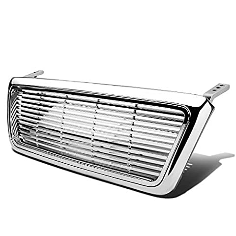 Ford F-150 ABS Plastic Horizontal Billet Fence Style Front Upper Grille (Chrome) - F-Series 11th Gen P2 by Auto Dynasty