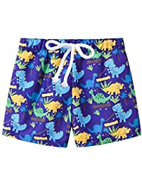 f898743f28 Zerototens Boys Swimming Shorts,1-6 Years Old Toddler Kids Beach Trunk  Adjustable Waist