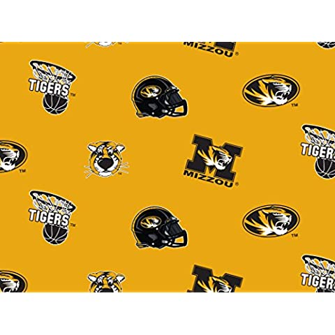 University of Missouri Tigers Cotton Fabric - Sold By the Yard by Sykel - Tigers Fleece Fabric
