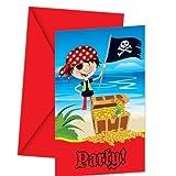 Kleine Piraten Einladungskarten mit Umschlag