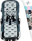 JANABEBE Sitzauflage für gemelar + Schutz des gepolsterten Geschirr für Kinderwagen (Raccoon)