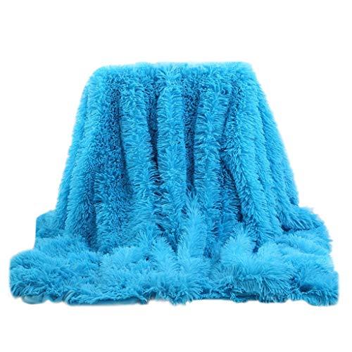LSAltd Decke Soft Lightweight Luxury Comfortable Fluffy Plush Hypoallergenic Blanket -
