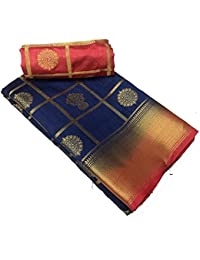 Purvi Womens Cotton Silk Party Wear Saree Collection In Multi-Colored Cotton Silk Wedding Saree With Blouse Piece...