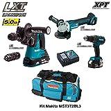 MAKITA Kit MST3T2BL3 18V (DHR243 + DGA504 + DHP480 + 2 x 5,0 Ah + DC18RC + Trolley)