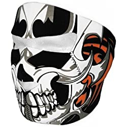 """Cagoule Masque Protection Neoprene """"Tribal Skull"""" - Taille unique réglable - Airsoft - Paintball - Outdoor - Ski - Snow - Surf - Moto - Biker - Quad"""
