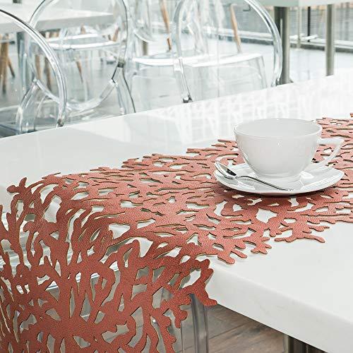 r Doppelseitiger Tischläufer, Laserschnitt, hitzebeständig, Rutschfest, schmutzabweisend, Verschiedene Designs, 139,7 x 40,6 cm, 152,9 x 40,6 cm 62