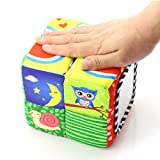 Enlarge toy image: TOLOLO Infant Baby Cube Rattle Soft Cloth Toys Early Education Building Blocks Toy