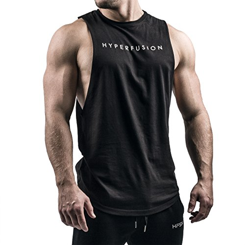 Phantom Cut Off Tank Shirt Tank Top Gym Fitness (L)