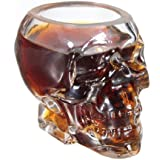 2x TETE Mort CRANE Coupe Crystal Skull Shot Glass vodka verrerie Verres whisky cognac