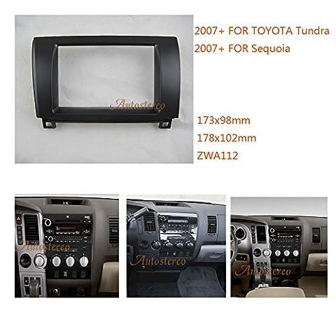 autostereo 11–112voiture Radio Kit de fixation d'installation façade d'autoradio pour Toyota Tundra, Sequoia 2007+ Cadre Façade d'autoradio stéréo Radio de Voiture