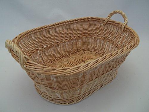 Wäschekorb, Babykorb aus heller Weide, deutsches Produkt, 60cm