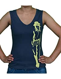 FICUSTER Women's/Girl's Sleeveless Grey Top - MEDIUM