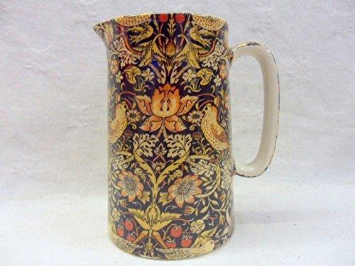William Morris Strawberry Thief Design 4 Pint Jug By Heron Cross Pottery.