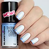 THERMO NAIL POLISH EFFECT - PEARL WHITE TO LIGHT BLUE
