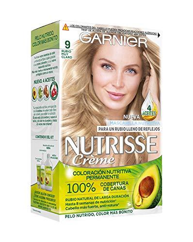 Garnier Nutrisse Creme coloración permanente con mascarilla nutritiva de cuatro aceites - Rubio muy...
