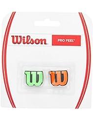 Wilson Pro Feel Dampener Antivibrador de Tenis, Unisex Adulto, Verde / Naranja (Green / Orange), Talla Única