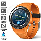 AFUNTA Screen Protector for Huawei Watch 2, 3 Pack Tempered Glass Protective Films Anti-Scratch High Definition Cover for Smartwatch