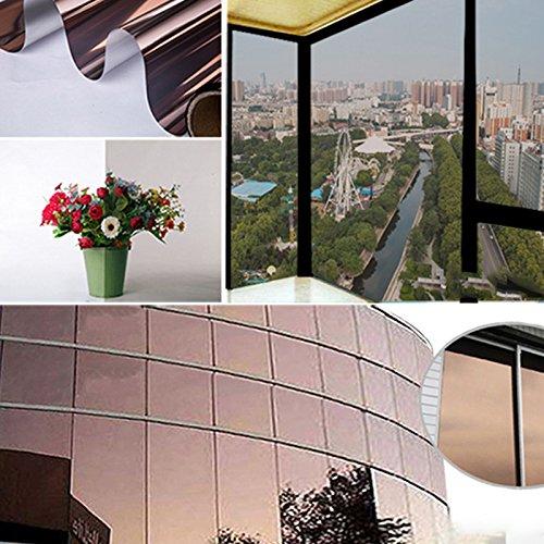 Haihuic Wärme Reduction Tönungsfolie Wohn Kommerziellen UV Schutz Solarfolie Reflektierende Sonnenschutz Fenster Film Silber 50 cm x 100 cm (19,7