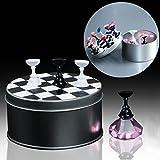 bureze 12pcs/kit ajedrez cristal Junta uñas arte consejos pantalla soporte magnético Soporte Manicura Salón