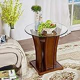 Tisch HUO, American Country Massivholz Wohnzimmer Sofa Beistelltisch Telefontisch Luxus Couchtisch Multifunktional (größe : Round Table)
