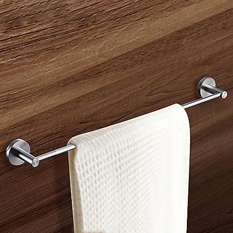 QUEEN'S Il miglior bagno spazio di storage solido alluminio asta, piedistallo spessa Portasciugamani, Cut-Proof, Wear-Resistant e durevole il portasciugamani