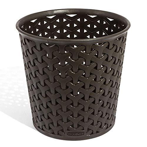 WJL Dark Brown Speicher-Korb, rund 14, 4x14, 4x14cm -