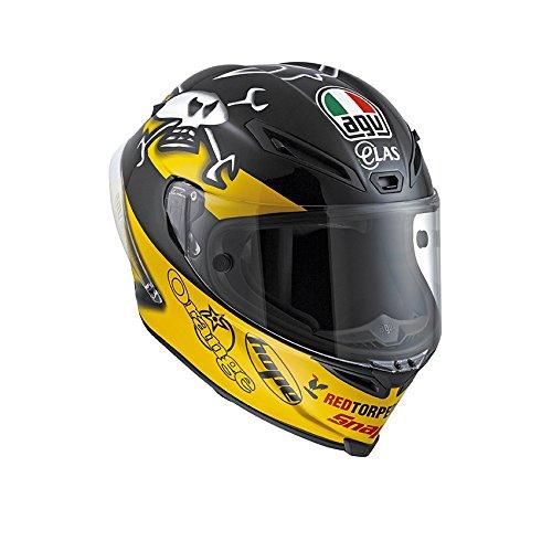 AGV J6101A1FW001XXL Casco Corsa E2205 Replica W, Multicolore, Misura 11