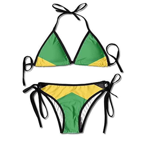 Jamaica Flag Bikini Women's Summer Swimwear Triangle