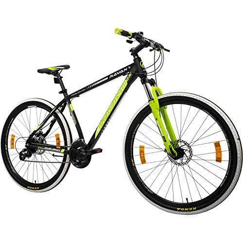 Galano Mountainbike 29 Zoll Hardtail MTB Fahrrad Ravan 24 Gänge Bike 3 Farben (schwarz/grün, 48 cm)
