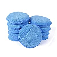 NYKKOLA Pack of 10 Microfiber Car Wax Applicator Pads Waxing Polish Sponge Cleaning Detailing Pads